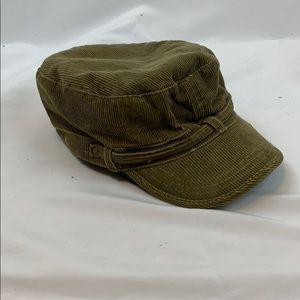 Green corduroy fiddler hat
